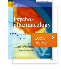 Psychopharmacology journal: special issue, 10 years of the Jacob P. Waletzky Award